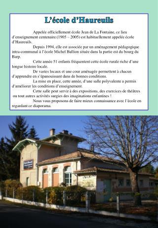 L'école d' Haureuils