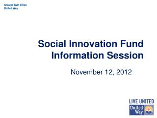 Social Innovation Fund Information Session