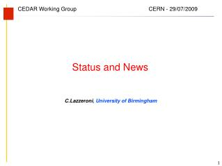 C.Lazzeroni , University of Birmingham