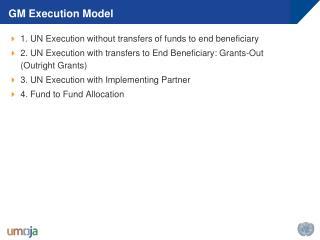 GM Execution Model