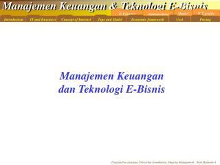 Manajemen Keuangan dan Teknologi E-Bisnis