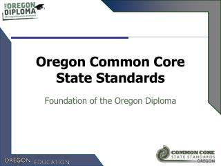 Oregon Common Core State Standards