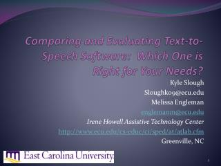 Comparing and Evaluating Text-to-Speech Software:  Which One is Right for Your Needs?