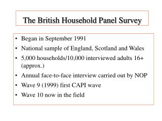 The British Household Panel Survey