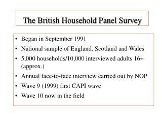 The British Household Panel Survey