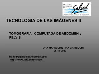 TECNOLOGIA DE LAS IMÁGENES ll