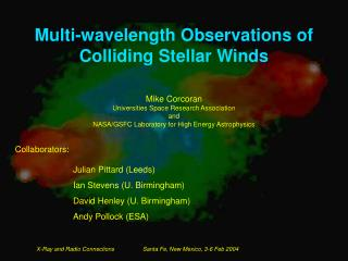 Multi-wavelength Observations of Colliding Stellar Winds