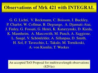 Observations  of Mrk 421 with INTEGRAL
