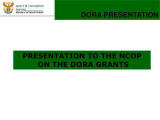 DORA PRESENTATION