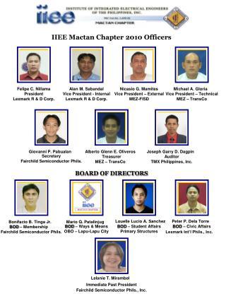 IIEE Mactan Chapter 2010 Officers