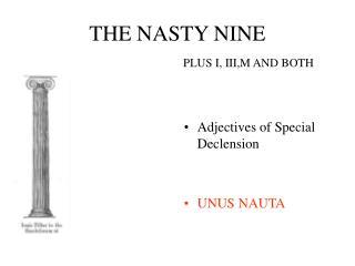 THE NASTY NINE PLUS I, III,M AND BOTH