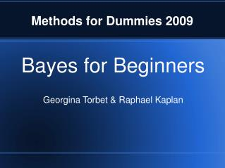 Methods for Dummies 2009