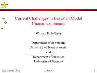 Current Challenges in Bayesian Model Choice: Comments