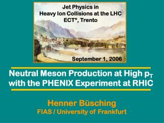 Neutral Meson Production at High p T with the PHENIX Experiment at RHIC