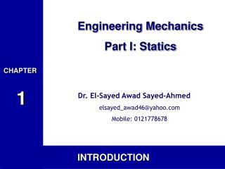 Engineering Mechanics Part I: Statics
