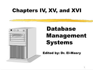 Chapters IV, XV, and XVI
