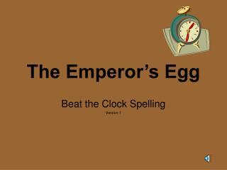 The Emperor�s Egg