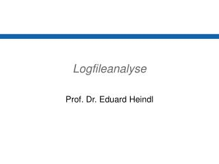 Logfileanalyse