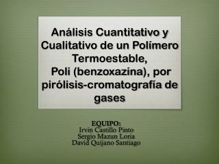 EQUIPO: Irvin Castillo Pinto Sergio Mazun Loria David Quijano Santiago