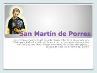 San Mart�n de Porres