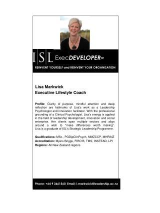 Lisa Markwick Executive Lifestyle Coach