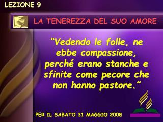 LEZIONE 9