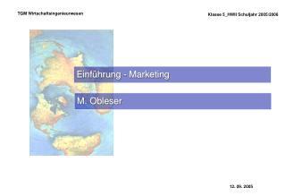 Einführung - Marketing
