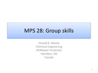 MPS 28: Group skills