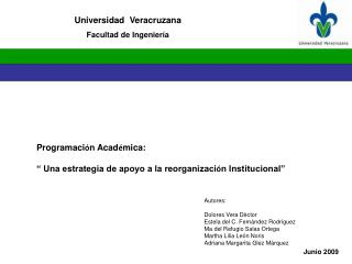 Universidad  Veracruzana Facultad de Ingenier�a