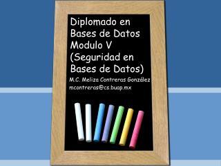 Diplomado en Bases de Datos Modulo V (Seguridad en Bases de Datos)
