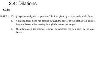 2.4: Dilations