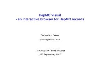 HepMC Visual - an interactive browser for HepMC records