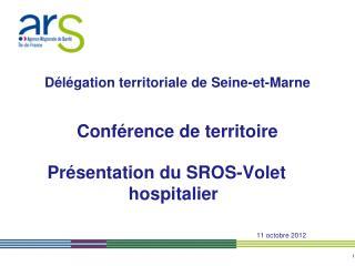 Présentation du SROS-Volet hospitalier 11 octobre 2012