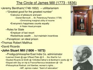 The Circle of James Mill 1773 -1836