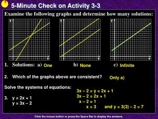 5-Minute Check on Activity  3-3