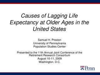Causes of Lagging Life Expectancy at Older Ages in the United States
