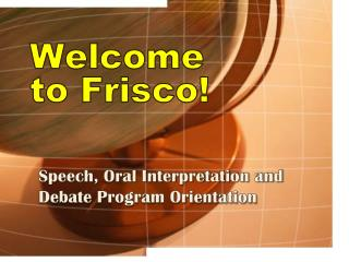 Welcome  to Frisco!