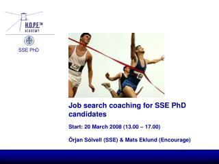 Job search coaching for SSE PhD candidates
