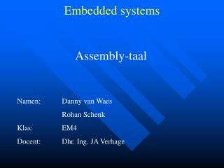 Assembly-taal