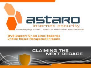 IPv6-Support für ein Linux-basiertes Unified Thread Management Produkt