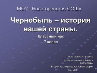 МОУ «Новогоренская СОШ»