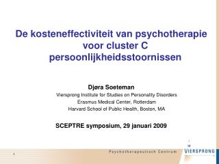 De kosteneffectiviteit van psychotherapie voor cluster C persoonlijkheidsstoornissen