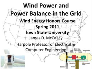 Wind Energy Honors Course Spring 2011 Iowa State University