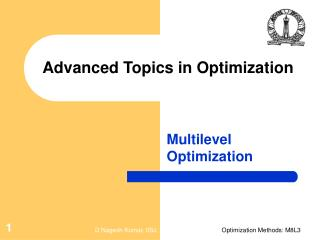 Advanced Topics in Optimization