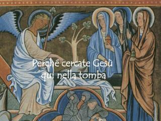 Perché cercate Gesù  qui nella tomba