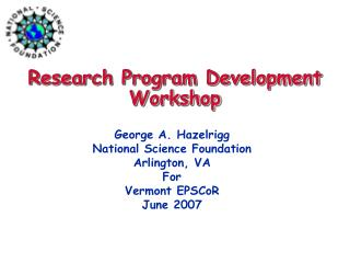 Research Program Development Workshop