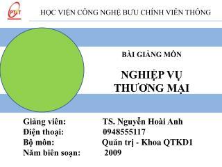 H?C VI?N C�NG NGH? B ? U CH�NH VI?N TH�NG