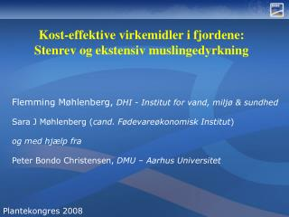 Flemming Møhlenberg,  DHI - Institut for vand, miljø & sundhed