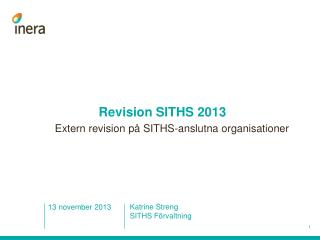 Revision SITHS 2013