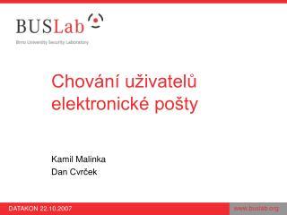 Chování uživatelů elektronické pošty